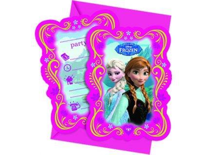 Sada 6 pozvánek s obálkou Frozen DISNEY