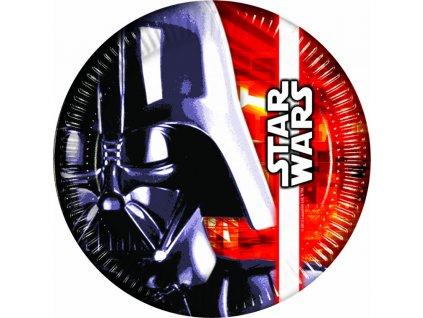 Sada 8 papírových talířů Star Wars 23 cm DISNEY