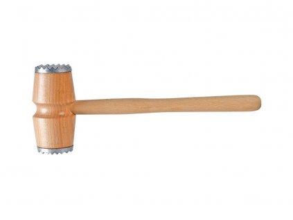 Dřevěná palička na maso s kovovýma koncovkama 30 cm EKO-DREW