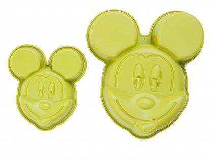 Set 2 silikonových forem Mickey Mouse Green DISNEY