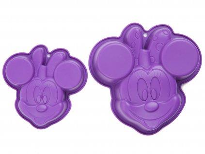 Set 2 silikonových forem Minnie Mouse Violet  DISNEY