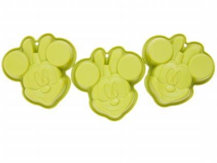 Sada 3 silikonových forem Minnie Mouse Green DISNEY