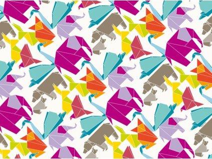Sada 2 podložek na stůl z korku Origami Colours 39,5 x 29,5 cm AMBITION