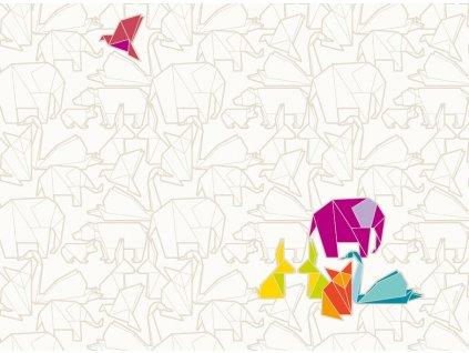 Sada 2 podložek na stůl z korku Origami 39,5 x 29,5 cm AMBITION