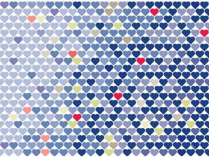 Sada 2 podložek na stůl z korku Love IV. 39,5 x 29,5 cm AMBITION