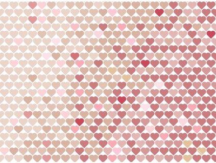 Sada 2 podložek na stůl z korku Love I. 39,5 x 29,5 cm AMBITION
