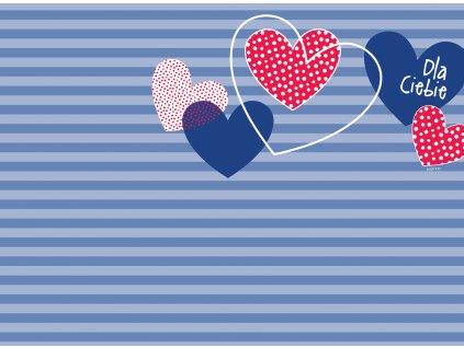 Sada 2 podložek na stůl z korku Love II. 39,5 x 29,5 cm AMBITION