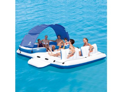 Nafukovací raft s mini bazénem Tropical Breeze 389 x 274 cm BESTWAY