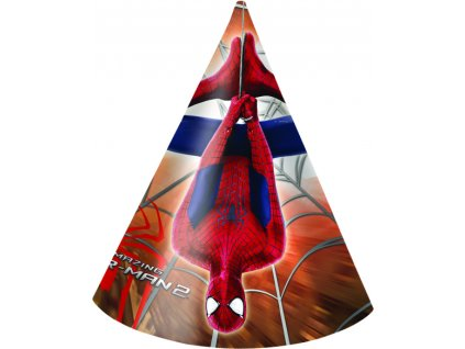 Sada 6 párty čepiček Amazing Spiderman II. DISNEY