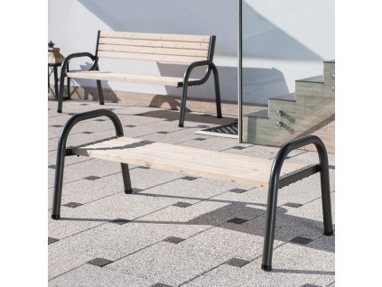 Zahradní dřevěná lavička bez opěradla Park 162 x 75 x 63 cm PATIO