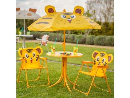 Souprava dětského zahradního nábytku Tygr PATIO