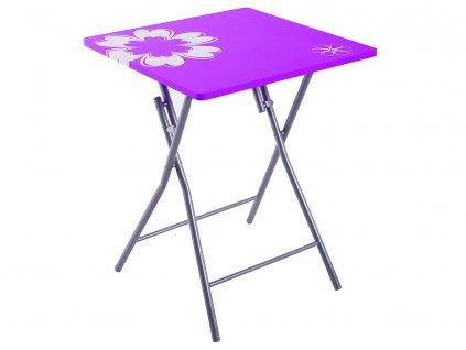 Skládací stůl Flower Violet 60 x 60 cm PATIO