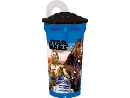 Láhev s brčkem Star Wars 350 ml DISNEY