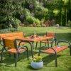 Zahradní dřevěná lavička bez opěradla Park Lux 162 x 75 x 63 cm PATIO
