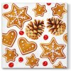 Sada 20 Vánočních ubrousků Gingerbreads 33 x 33 cm