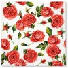 Sada 20 ubrousků Červené růže 33 x 33 cm