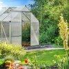 Třídílný zahradní skleník 1,9 x 1,9 x 1,95 m PATIO