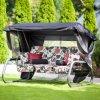 Zahradní houpačka Venezia Lux s moskytiérou, polštářky a bočními stolky A034-07LB PATIO