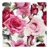 Sada 20 ubrousků Rose White Bottom 33 x 33 cm PAW