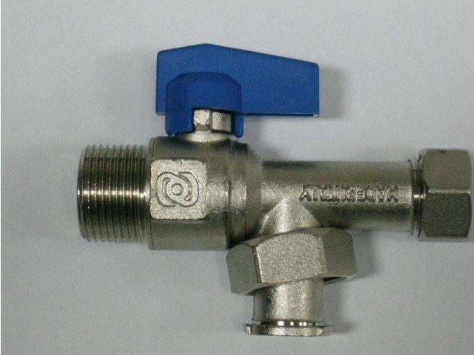 """890-0011 Rohový kohout s filtrem 3/4"""" - modrý"""