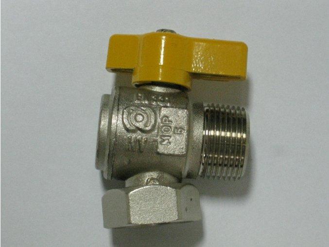 """Rohový kohout bez filtru 3/4"""" - žlutý (plyn)"""