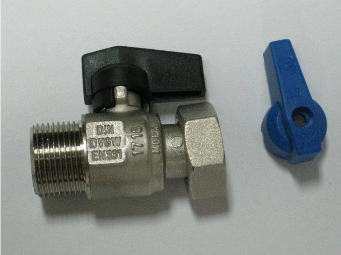 """890-0015 Přímý kohout s převlečnou maticí 3/4"""" - modrý"""