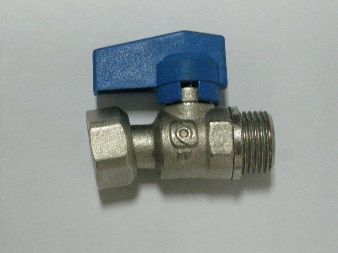 """890-0020 Přímý kohout s převlečnou maticí1/2"""" - modrý"""