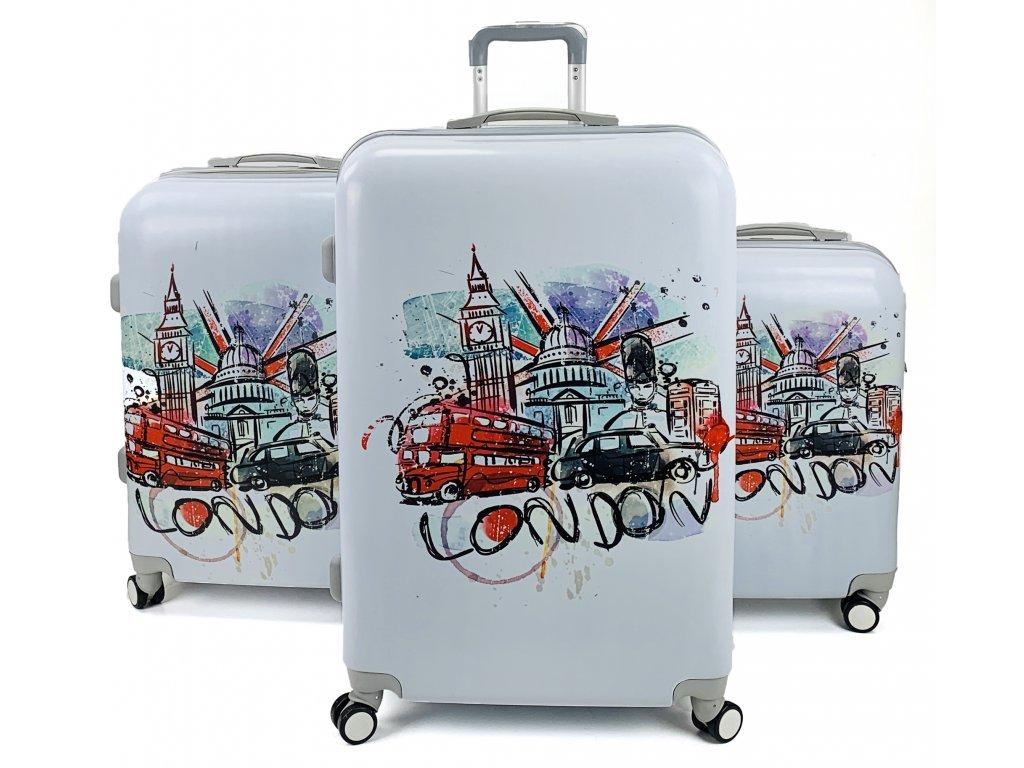 132578 cestovni skorepinovy kufr london art sada 3ks