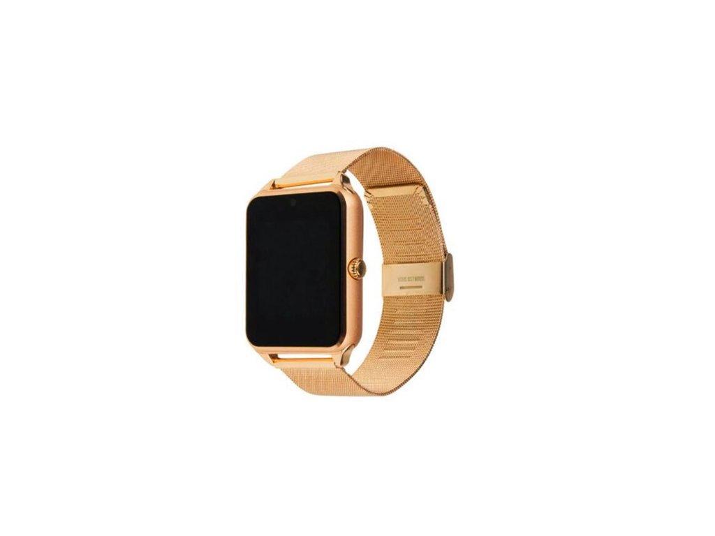 Chytré Hodinky Smart Watch GT08 s Kovovým Páskem (Opicka Zlatá)