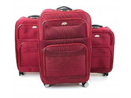 132599 cestovni kufr vinovy sada 3ks
