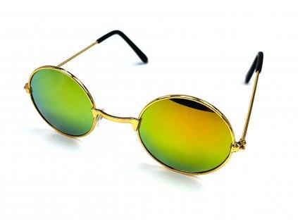 132509 detske slunecni bryle lenonky zlate zrcadlove