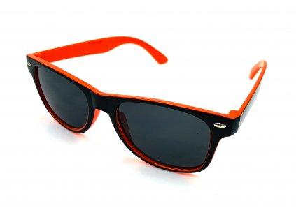132290 detske slunecni bryle wayfarer dvoubarevne oranzove