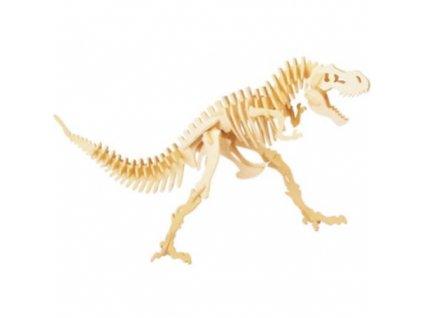 24163 drevena kostra dinosaura skladacka