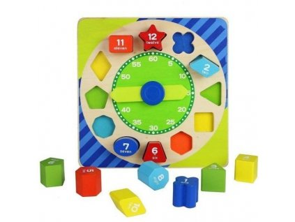 toy blocks clock wooden educational toy 23