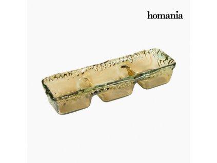 125987 ozdoba na stul z recyklovaneho skla jantar crystal colours deco kolekce by homania