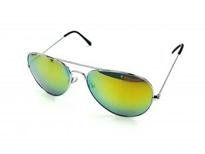63561 2 slunecni bryle aviator zlate