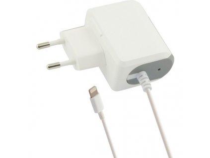 Stenová nabíjačka Lightning 1a iPhone Biela