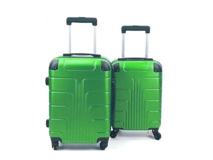 Cestovní Skořepinový Kufr - Zelený (velikost S a XS) (Opicka S)