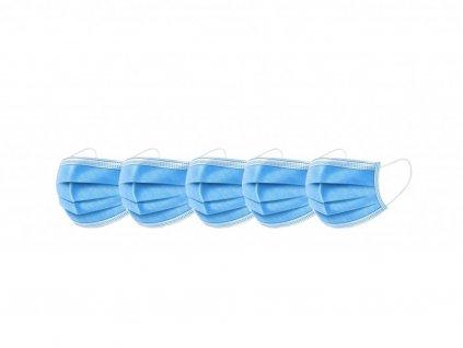 Hygienická rúška na ústa  - modrá 5ks