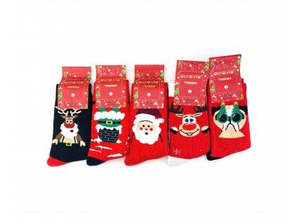 Vianočné termo ponožky - set (5ks)