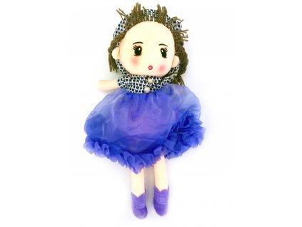 Plyšová bábika vo fialových šatách (50 cm)