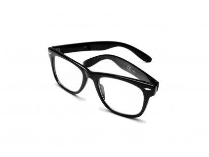 Slnečné Okuliare Wayfarer Čierne - Číre
