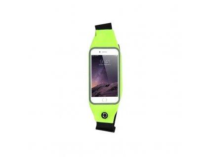 sportovni pouzdro na mobil na behani zlutozelene