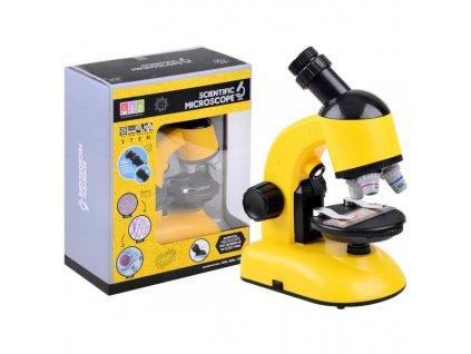 mikroskop s prislusenstvom zlty 6181