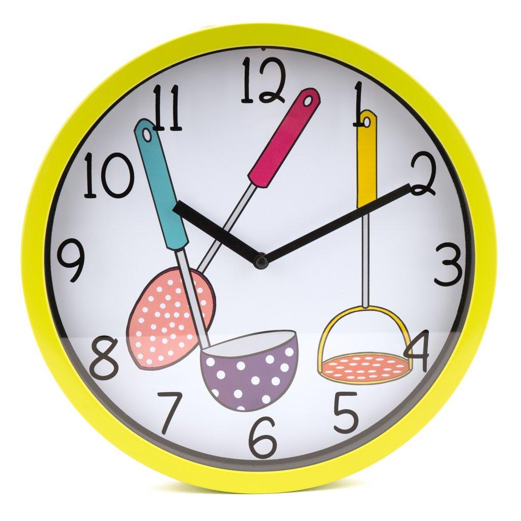 1143 zelene nastenne hodiny do kuchyne