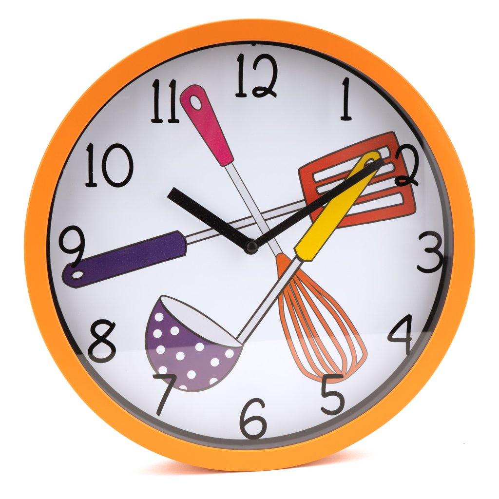1149 oranzove nastenne hodiny do kuchyne
