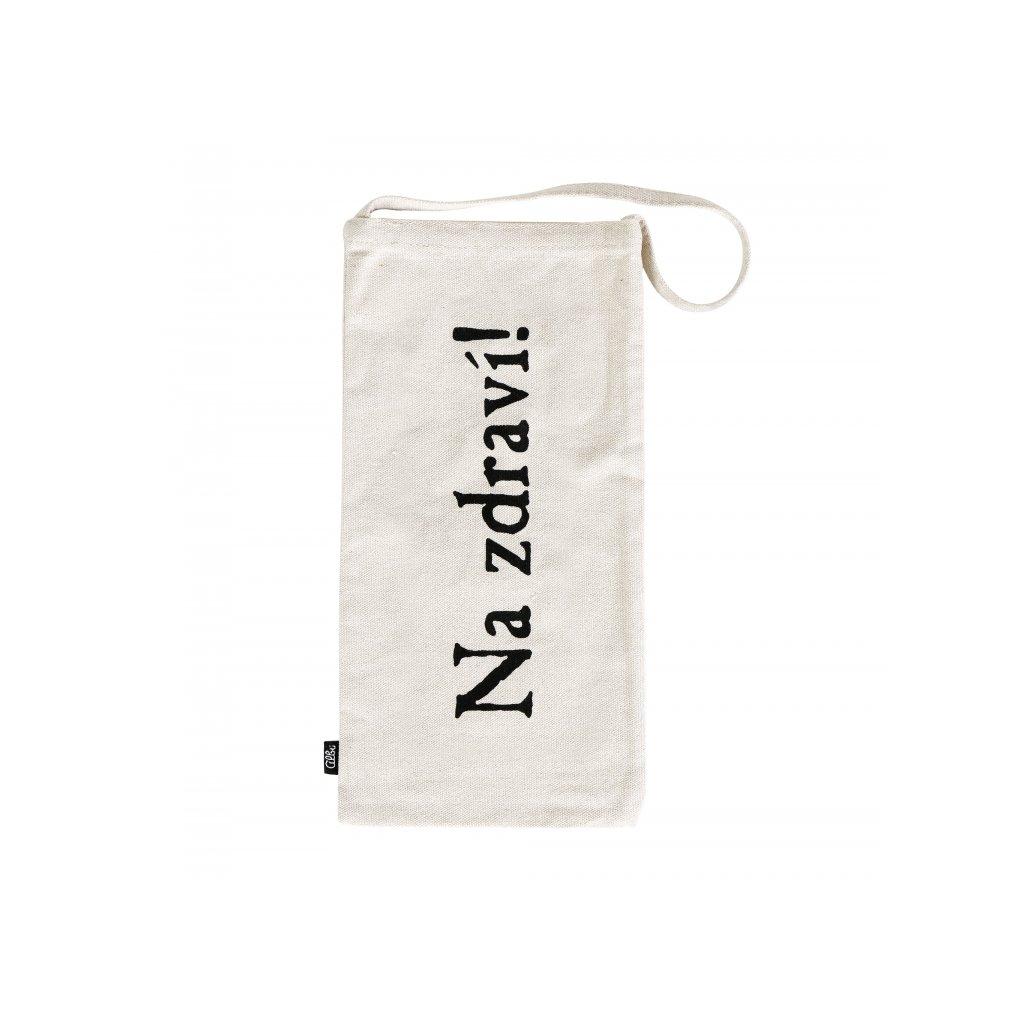 Dárková taška na víno - látková