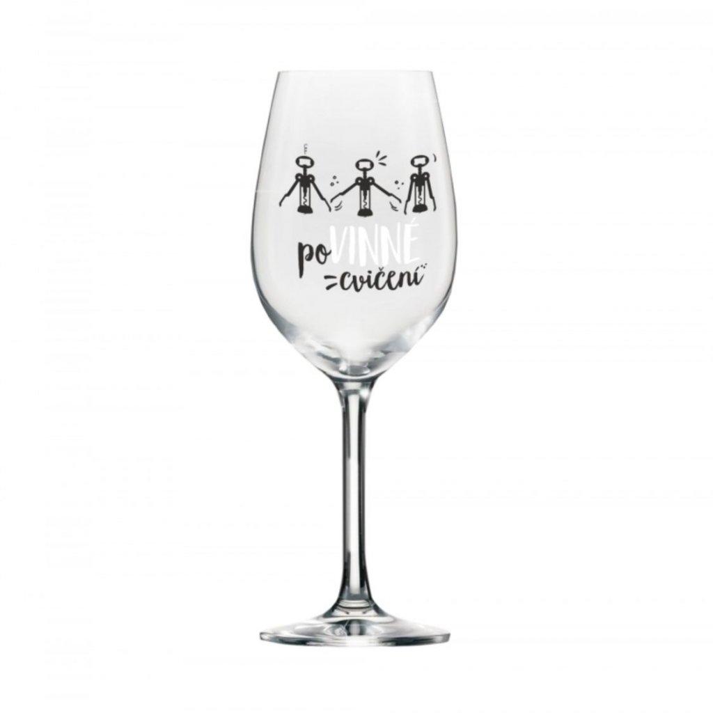 mega sklenice na vino povinne cviceni