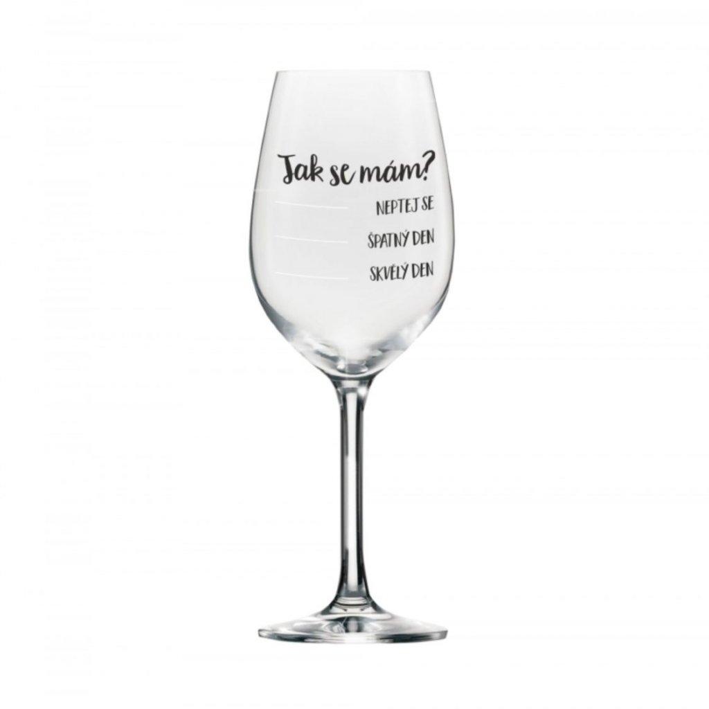 mega sklenice na vino jak se mam