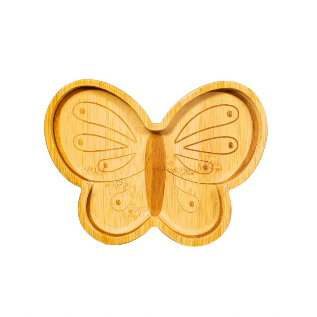 JQY032 A Butterfly Bamboo Plate